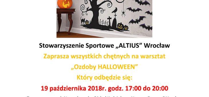 Warsztaty pn. Ozdoby Halloween już 19.10.2018 r., o godz. 17:00