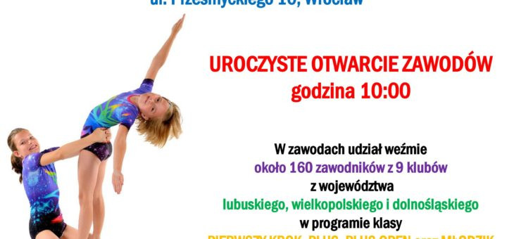 """Międzywojewódzkie zawody w akrobatyce sportowej """"Jestem Akrobatą"""" już 18 listopada 2018 r."""