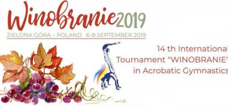 """14th International Tournament """"WINOBRANIE"""" in Acrobatic Gymnastics [6-8 września 2019, Zielona Góra]"""