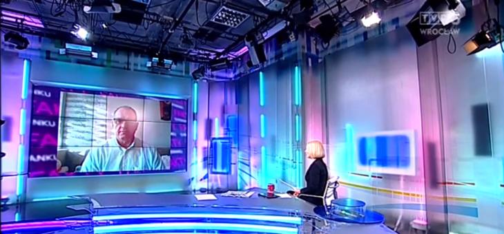 Rafał Kubacki w FAKTACH O PORANKU TVP3 Wrocław