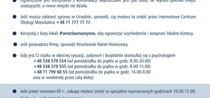 Kampania informacyjna Wrocławia #zostajęwdomu
