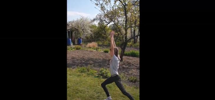 Zdalny trening naszych akrobatów – Hania #zdrowie #sport #ćwiczenia