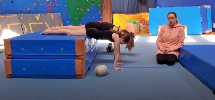 Nauka stania na rękach – część 2 #gimnastyka