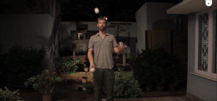 Nauka żonglowania trzema piłeczkami #przedszkolaki #ćwiczenia
