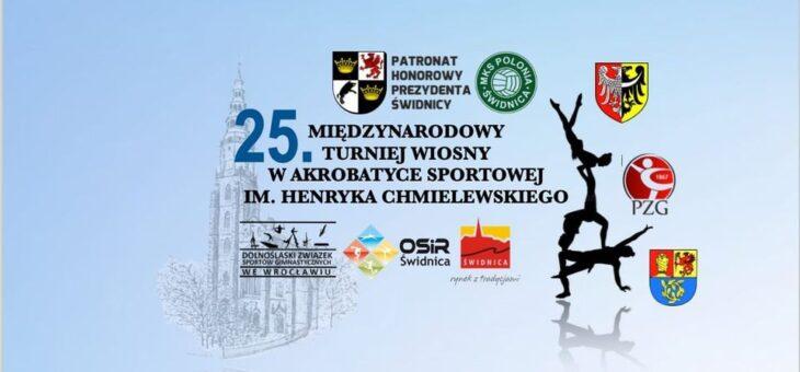 25. Międzynarodowy Turniej Wiosny w Akrobatyce Sportowej im. Henryka Chmielewskiego – START JUŻ DZIŚ!