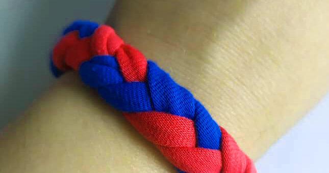 Bransoletka ze sznurków #altius #zajęcia